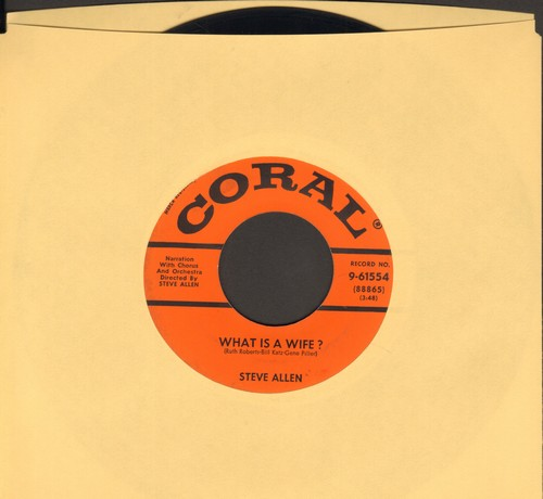 Allen, Steve - What Is A Wife?/What Is A Husband?  - VG7/ - 45 rpm Records