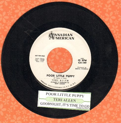 Allen, Teri - Poor Little Puppy/Goodnight, It's Time To Go (DJ advance pressing with juke box label) - NM9/ - 45 rpm Records