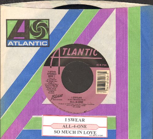 All-4-One - I Swear/So Much In Love (with juke box label and Atlantic company sleeve) - NM9/ - 45 rpm Records