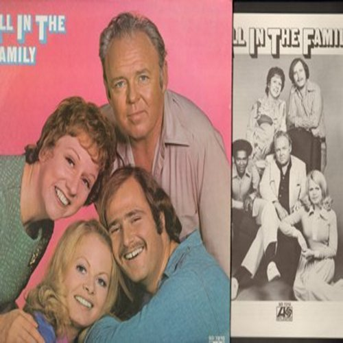O'Connor, Carroll, Jean Stapleton, Sally Struthers, Rob Reiner - All In The Family: Scenes of the first season on vinyl LP - with BONUS profile pages of main characters and creators - M10/NM9 - LP Records