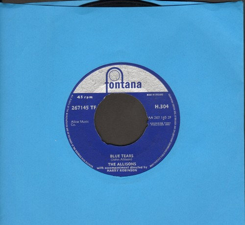 Allisons - Blue Tears/Words (British Pressing) - VG7/ - 45 rpm Records