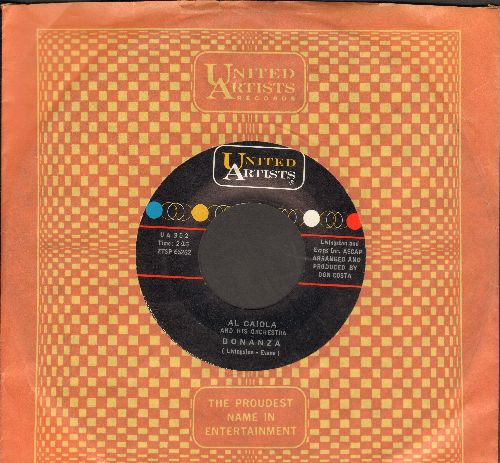 Caiola, Al - Bonanza/Bounty Hunter (with United Artists company sleeve) - EX8/ - 45 rpm Records