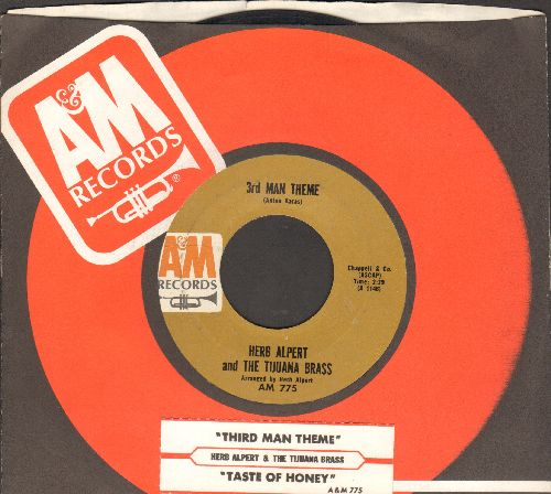Alpert, Herb & The Tijuana Brass - Third Man Theme/Taste Of Honey (with juke box label and company sleeve) - EX8/ - 45 rpm Records