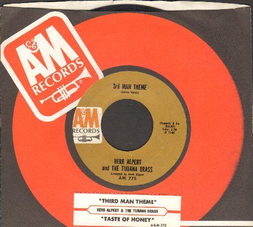 Alpert, Herb & The Tijuana Brass - Third Man Theme/Taste Of Honey (with juke box label and company sleeve) - EX8/ - 45 rpm Records