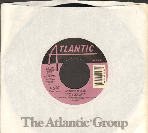 All-4-One - So Much In Love (with Atlantic company sleeve) - EX8/ - 45 rpm Records