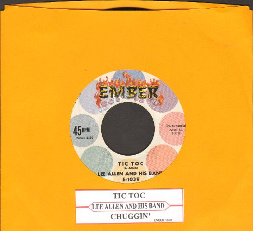Allen, Lee & His Band - Tic Toc/Chuggin' (with juke box label) - NM9/ - 45 rpm Records