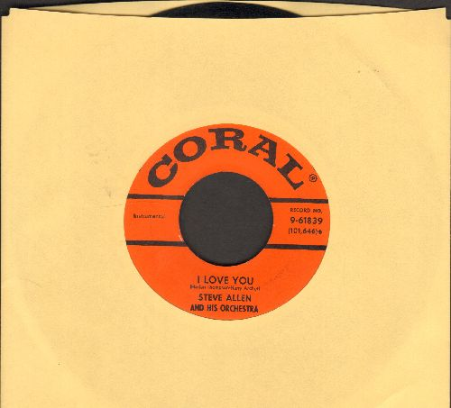 Allen, Steve - I Love You/Do You Ever Think Of Me - EX8/ - 45 rpm Records