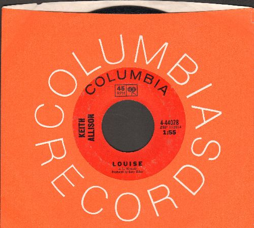 Allison, Keith - Louise/Freeborn Man (FANTASTIC Bubblegum 2-sider with Columbia company sleeve) - NM9/ - 45 rpm Records