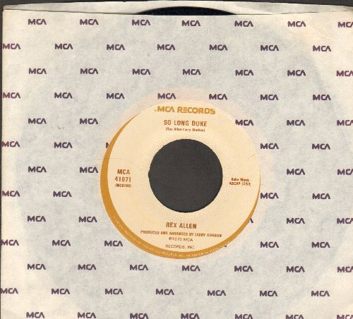 Allen, Rex - So Long Duke/At The Rainbow's End (with MCA company sleeve) - NM9/ - 45 rpm Records