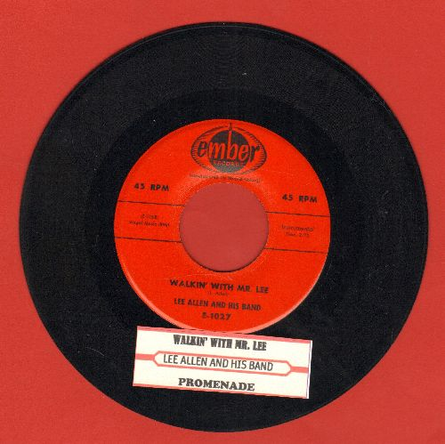 Allen, Lee & His Band - Walkin' With Mr. Lee/Promenade (with juke box label) - VG7/ - 45 rpm Records