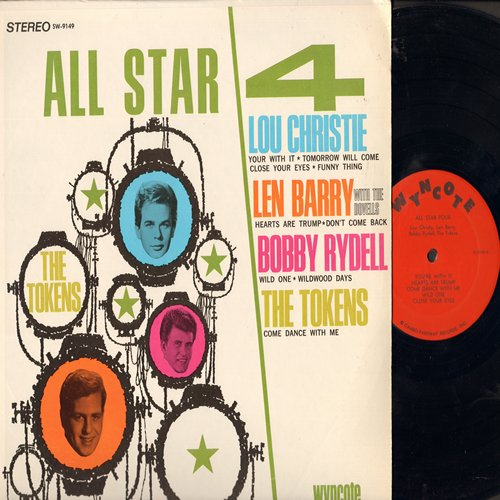 Christie, Lou, Len Barry, Bobby Rydell, The Tokens - All Star 4: Close Your Eyes, Hearts Are Trump, Wildwood Days, Come Dance With Me, You're With It (Vinyl MONO LP record) - NM9/EX8 - LP Records
