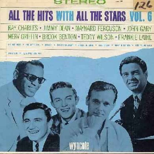 Gary, John, Ray Charles, Jimmy Dean, others - All The Hits With All The Stars Vol. 6: The Bell Rings, Maureen, You Little Devil, Danny Boy, Streets Of Glory (Vinyl STEREO LP record, sol) - NM9/VG7 - LP Records