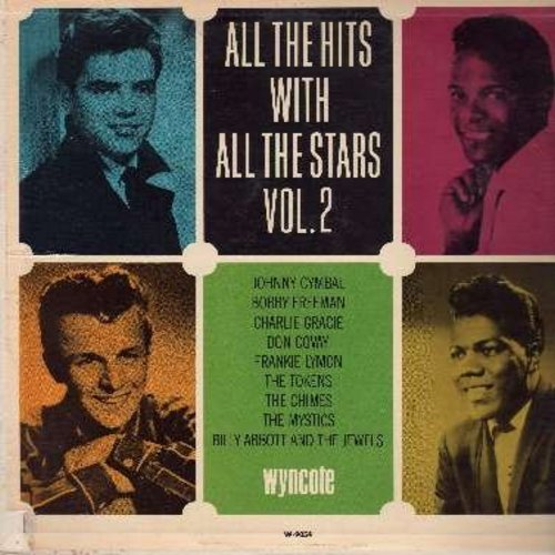 Freeman, Bobby, Johnny Cymbal, Frankie Lymon, Charlie Gracie, others - All The Hits With All The Stars Vol. 2: (Mono),Come Dance With Me, Popeye Waddle, She's A Hippy, Ninety Nine Ways, Groovy Baby (Vinyl STEREO LP record) - EX8/EX8 - LP Records