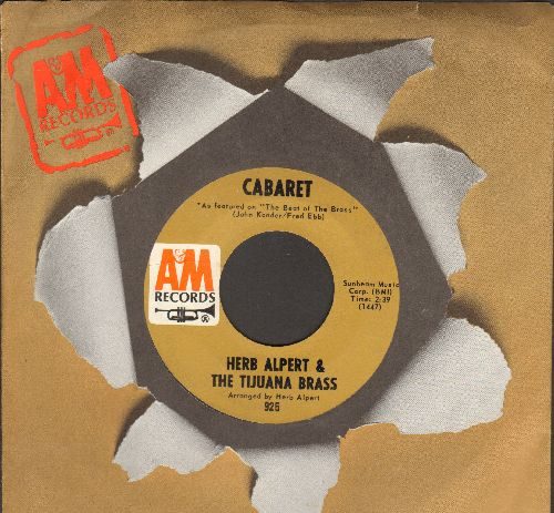 Alpert, Herb & The Tijuana Brass - Cabaret/Slick (with A&M company sleeve) - NM9/ - 45 rpm Records