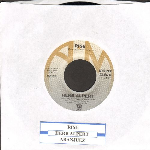Alpert, Herb - Rise/Aranjuez (Mon Amour) (with juke box label) - NM9/ - 45 rpm Records