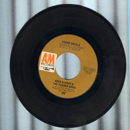 Alpert, Herb & The Tijuana Brass - Casino Royale/The Wall Street Rag  - VG7/ - 45 rpm Records