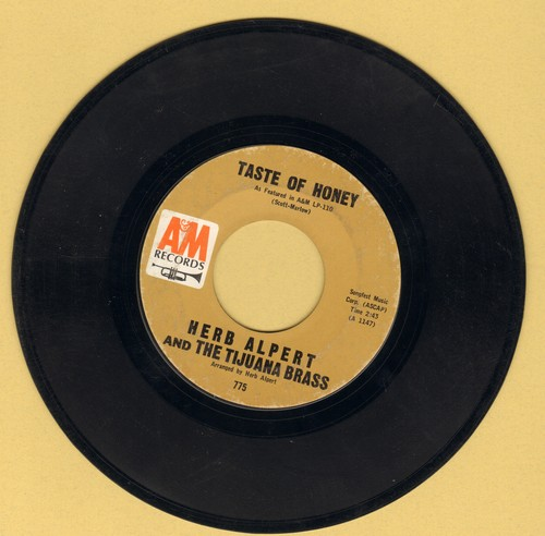 Alpert, Herb & The Tijuana Brass - Taste Of Honey/Third Man Theme (bb) - EX8/ - 45 rpm Records