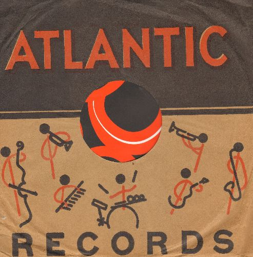 Company Sleeves - RARE Vintage Atlantic company sleeve. 10 inch sleeve for 78 rpm records. NICE toch to enhance the appearance of your collectable 78 rpm records! - EX8/ - Supplies