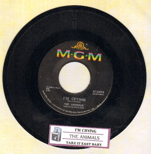 Animals - I'm Crying/Take It Easy Baby (with juke box label) - EX8/ - 45 rpm Records