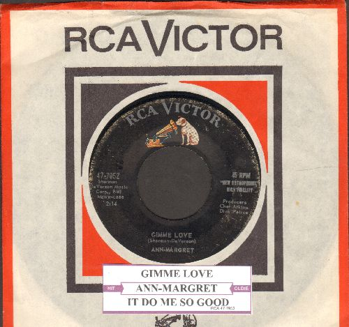 Ann-Margret - Gimme Love/It Do Me So Good (with juke box label) - VG7/ - 45 rpm Records