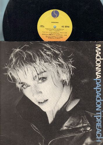 Madonna - Papa Don't Preach (5:43 Minutes Extended Remix)/Pretender (4:28 Minutes) (12 inch vinyl Maxi Single with picture cover) - EX8/EX8 - Maxi Singles