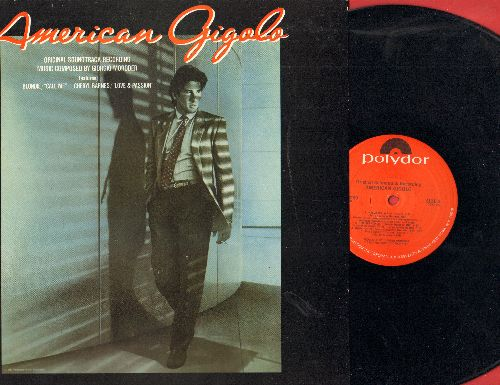 American Gigolo - American Gigolo - Original Motion Picture Soundtrack, includes 8:04 minute Extended Club Version of Theme -Call Me- by Blondie (vinyl LP record, 1980 first pressing) - NM9/VG7 - LP Records