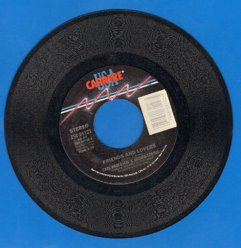 Anderson, Carl & Gloria Loring - Friends And Lovers/You Always Knew - NM9/ - 45 rpm Records