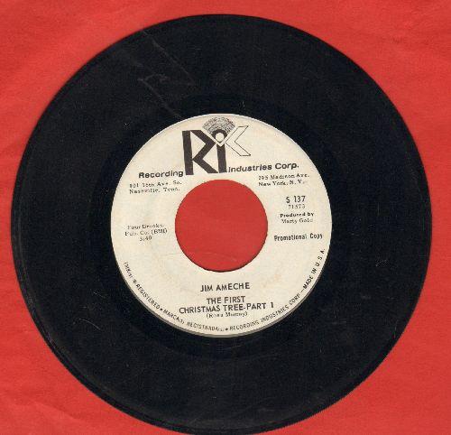 Ameche, Jim - The First Christmas Tree (Parts 1 + 2) (DJ advance pressing) - EX8/ - 45 rpm Records