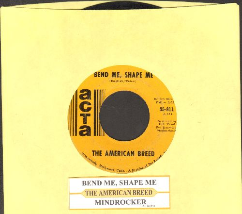 American Breed - Bend Me, Shape Me/Mindrocker (with juke box label) - EX8/ - 45 rpm Records
