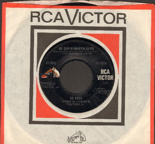 Ames, Ed - My Cup Runneth Over (From Broadway Production -I Do, I Do-)/It Seems A Long Long Time (MINT condition with RCA company sleeve) - M10/ - 45 rpm Records