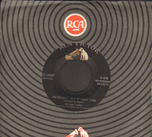 Ames Brothers - The Naughty Lady Of Shady Lane/Addio - EX8/ - 45 rpm Records