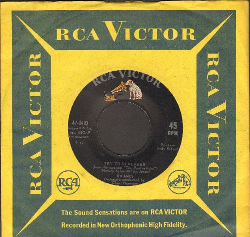 Ames, Ed - Try To Remember/Love Is Here To Stay (with RCA company sleeve) - M10/ - 45 rpm Records