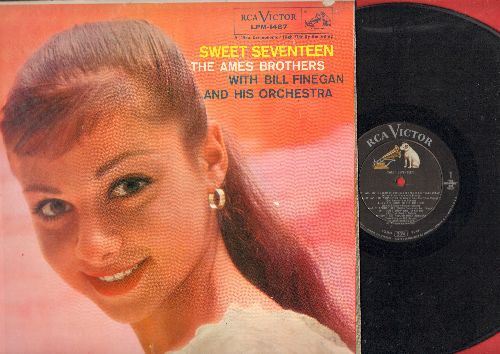Ames Brothers - Sweet Seventeen: For Sentimental Reasons, All I Do Is Dream Of You, I Don't Know Why, Little White Lies (Vinyl MONO LP record) - EX8/EX8 - LP Records