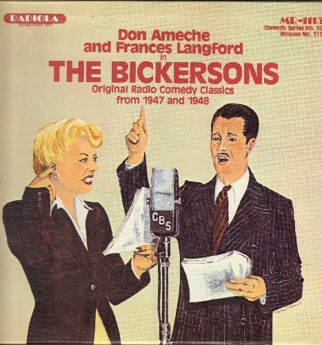 Ameche, Don & Frances Langford - The Bickersons - Original Radio Comedy Classics: Easter Parade, Blanche's Birthday Present, The Operation, Happy Anniversary, more! (vinyl LP record) - NM9/NM9 - LP Records