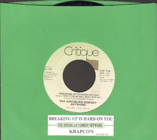 American Comedy Network - Breaking Up Is Hard To Do (a/k/a Don't Take Ma Bell Away From Me)/Krapco's Mr. Cardboard Tube -- Home Psychiatrist -- Gene Splitter  (with juke box label) - NM9/ - 45 rpm Records