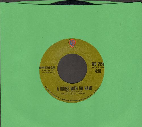 America - A Horse With No Name (ROCK CLASSIC!)/Everyone I Meet Is From California  - EX8/ - 45 rpm Records