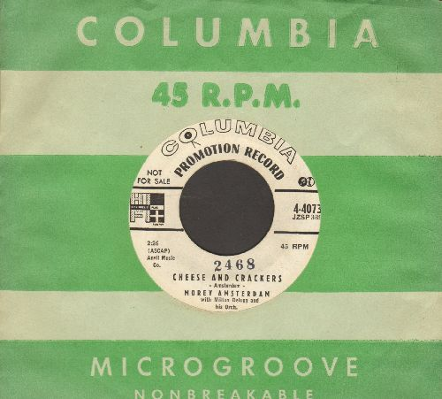 Amsterdam, Morey - Cheese And Crackers/Calliope Pete (RARE NOVELTY by Dick Van Dyke Show co-star, DJ advance pressing with vintage Columbis company sleeve)(minor wol) - NM9/ - 45 rpm Records