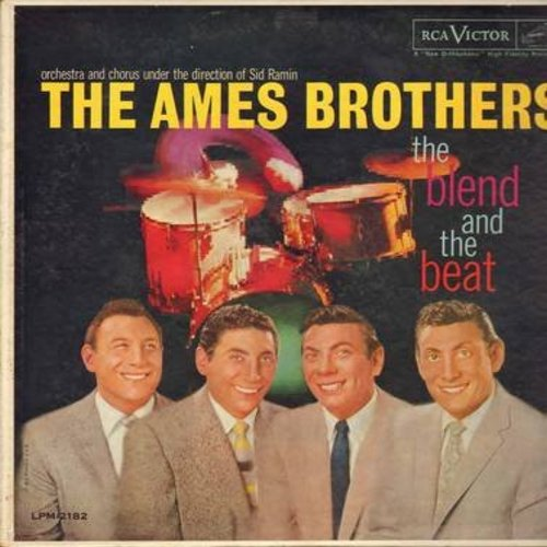 Ames Brothers - The Blend And The Beat: September Song, 'S Wonderful, Hallelujah, Too Marvelous For Words (vinyl MONO LP record) - NM9/VG7 - LP Records