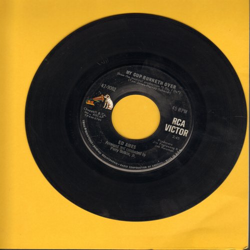 Ames, Ed - My Cup Runneth Over (From Broadway Production -I Do, I Do-)/It Seems A Long Long Time  - EX8/ - 45 rpm Records