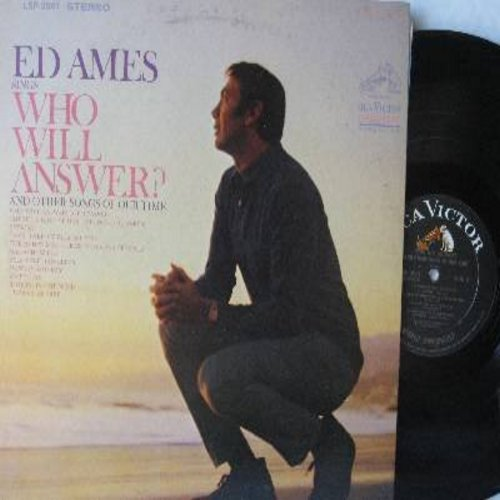 Ames, Ed - Who Will Answer?: There's A Kind Of Hush, Cherish, Yesterday, Massachusetts, Blowing In The Wind, I Wanna Be Free (Vinyl STEREO LP record) - EX8/EX8 - LP Records