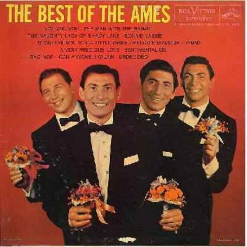 Ames Brothers - The Best Of The Ames: You You You, The Naughty Lady Of Shady Lane, Tammy, Melodie D'Amour, Undecided, Rag Mop (Vinyl MONO LP record) - NM9/EX8 - LP Records