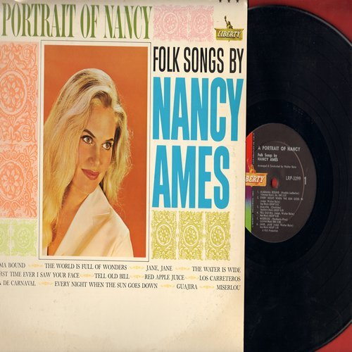 Ames, Nancy - A Portrait Of Nancy: Miserlou, The First Time Ever I Saw Your Face, Alabama Bound, Tell Old Bill, Guajira (Vinyl MONO LP record) - NM9/VG7 - LP Records