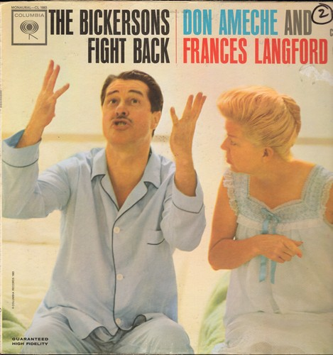 Ameche, Don & Frances Langford - The Bickersons Fight Back: 4 HILARIOUS Rounds in the Ring with America's Favorite bickering comedy couple! (Vinyl MONO LP record) - EX8/VG7 - LP Records