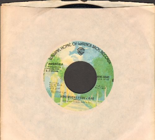 Ambrosia - How Much I Feel/Ready For Camarillo (with Warner Brothers company sleeve) - NM9/ - 45 rpm Records
