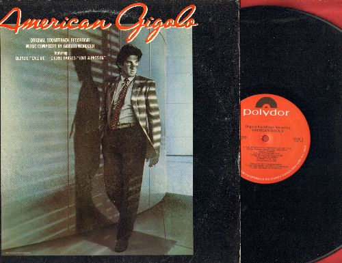 American Gigolo - American Gigolo - Original Motion Picture Soundtrack composed by Giorgio Moroder, includes 8 minute extended version of Hit Call Me by Blondie (vinyl STEREO LP record) - EX8/VG7 - LP Records
