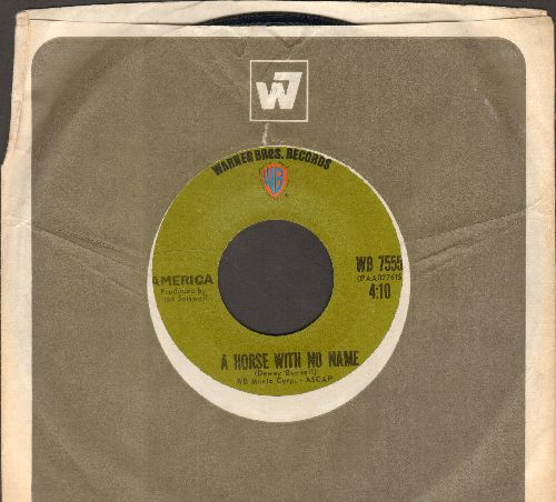 America - A Horse With No Name/Everyone I Meet Is From California (with Warner Brothers company sleeve) - VG7/ - 45 rpm Records