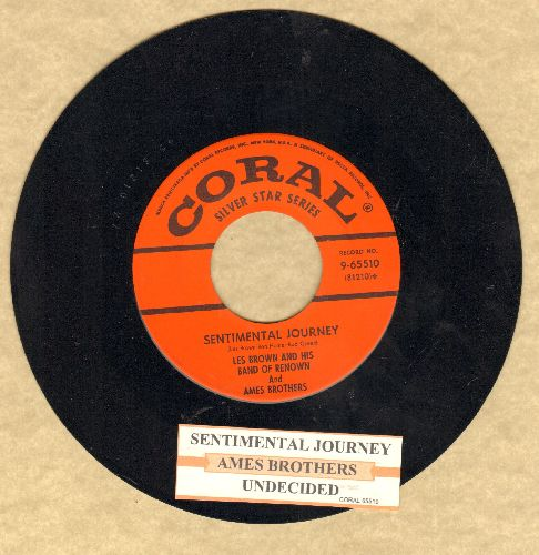 Ames Brothers - Undecided/Sentimental Journey (early re-issue with juke box label) - NM9/ - 45 rpm Records