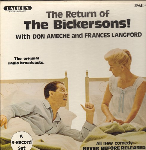 Ameche, Don & Frances Langford - The Return Of The Bickersons! - The Original Radio Broadcasts on 3 vinyl LP records in Box Set. GREAT gift for a fan! - NM9/EX8 - LP Records