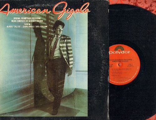 American Gigolo - American Gigolo - Original Motion Picture Soundtrack featuring 8:04 minute extended version of hit -Call Me- by Blondie (vinyl STEREO LP record) - NM9/VG7 - LP Records