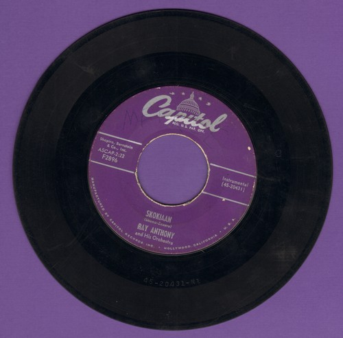 Anthony, Ray & His Orchestra - Skokiaan/Say Hey  - G5/ - 45 rpm Records